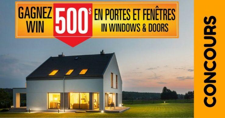 Concours Vimat Portes et Fenêtres - Gagner 500$ de portes et fenêtres
