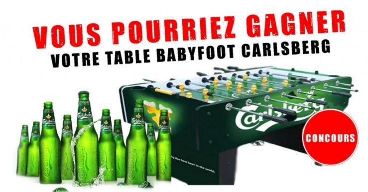 Image d'un concours table de BABYFOOT CARLSBERG