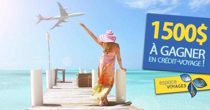 image concours voyage de 1500$ Espace Voyages Marieville