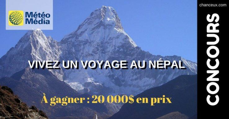 Image Météo Média concours voyage voyage au Népal