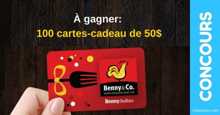 Concours TVA etBenny & Co Gagnez une des 100 cartes-cadeau de 50$