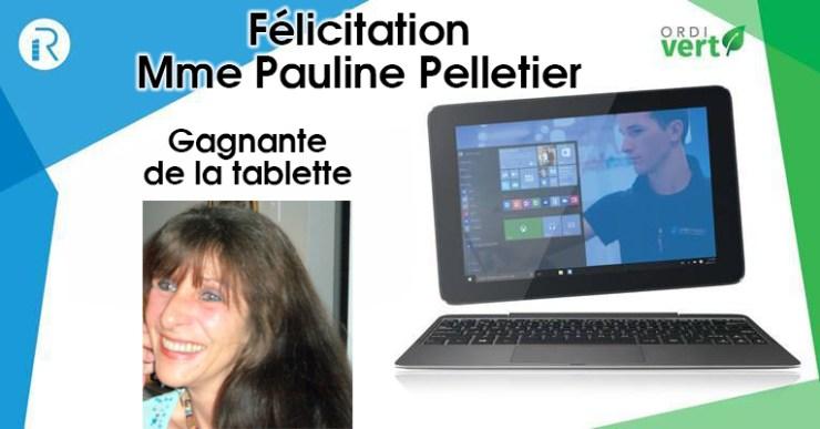 Pauline Pelletier gagnante concours La Recharge-ordivert