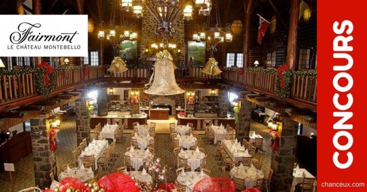 Gagnez un forfait Noël au Fairmont Château Montebello