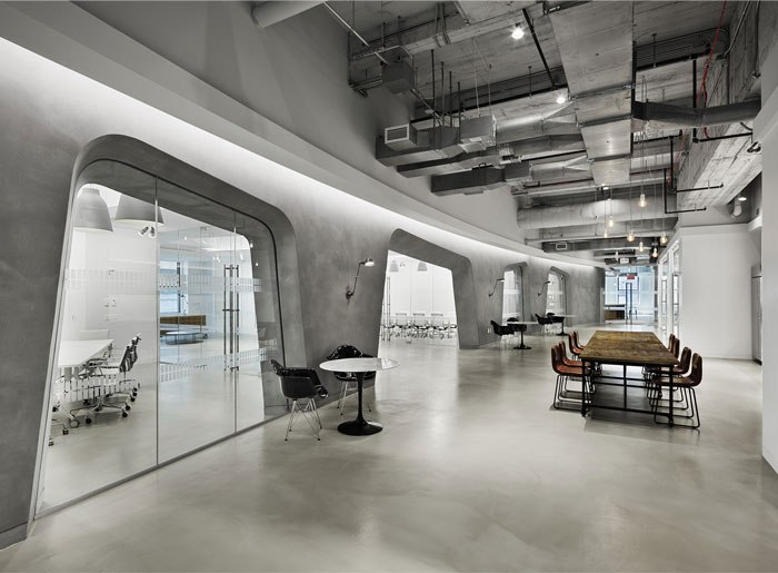 Industrial-look-office-space