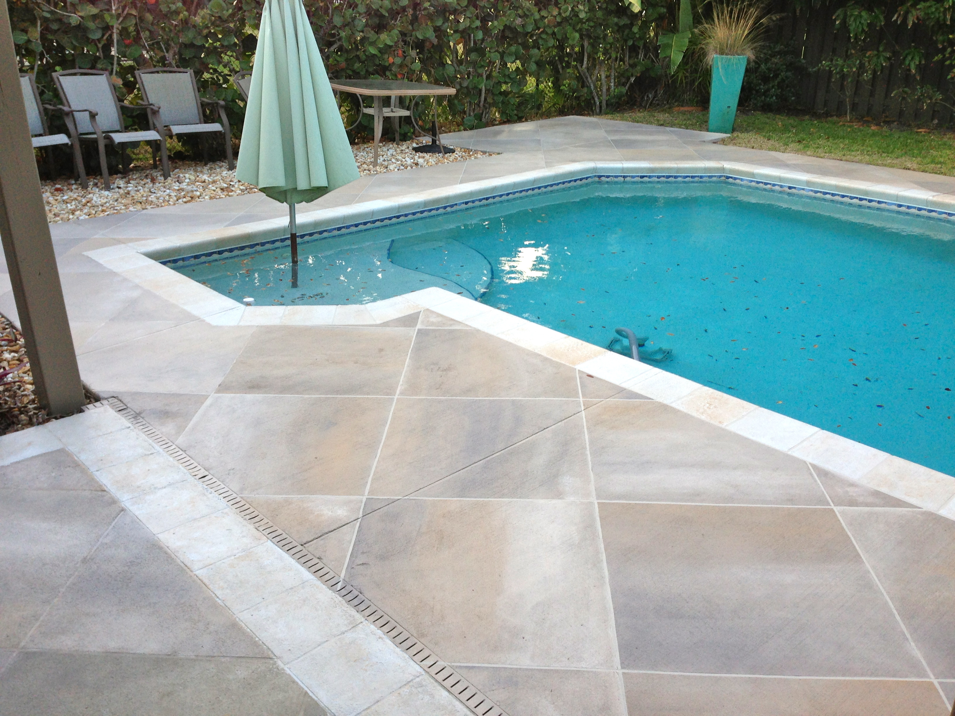 Concrete Designs Florida   Tile pool deck on Pool Patio Design id=39668
