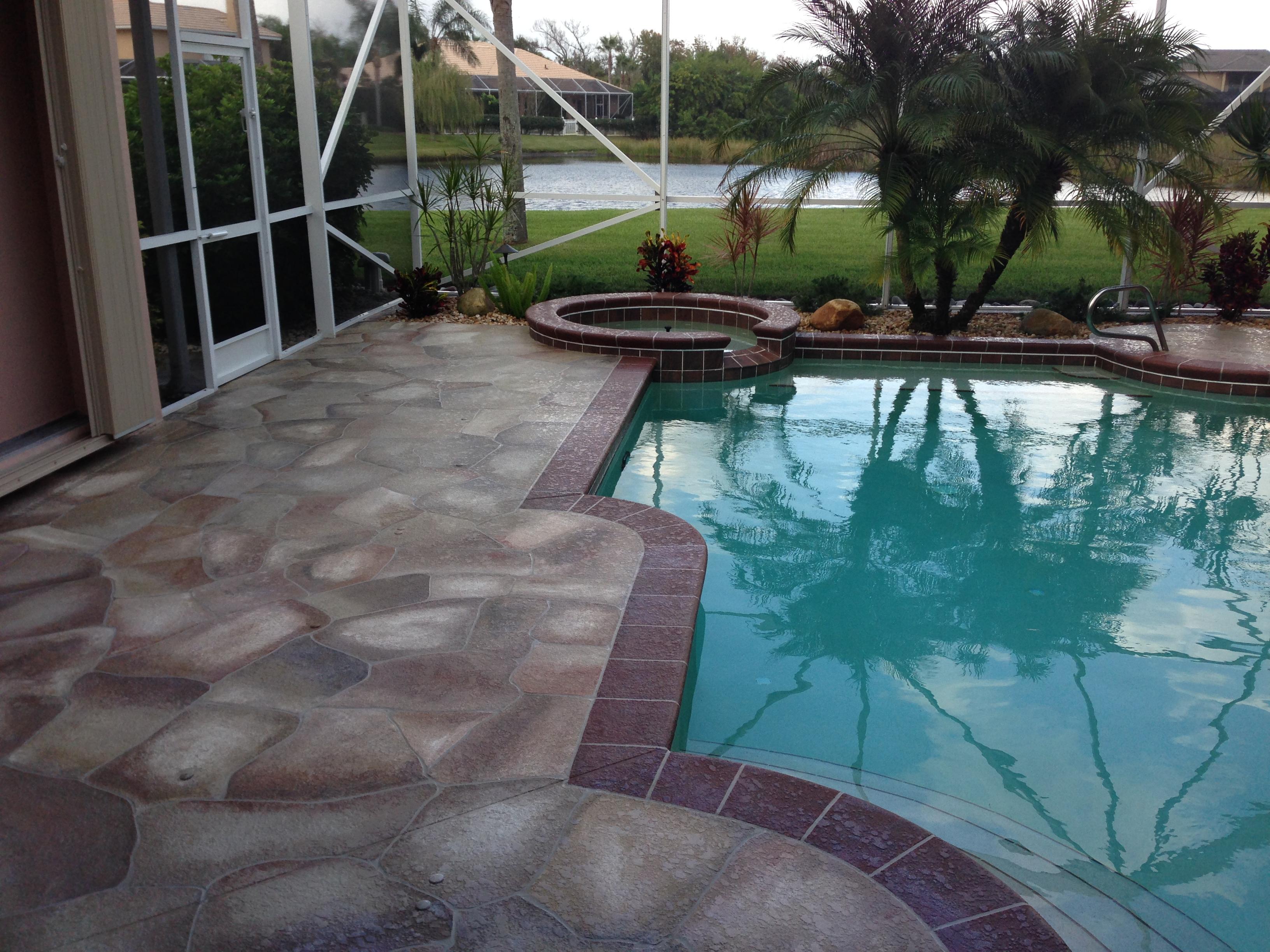 Concrete Designs Florida | pool deck decorating on Pool Deck Patio Ideas id=87531