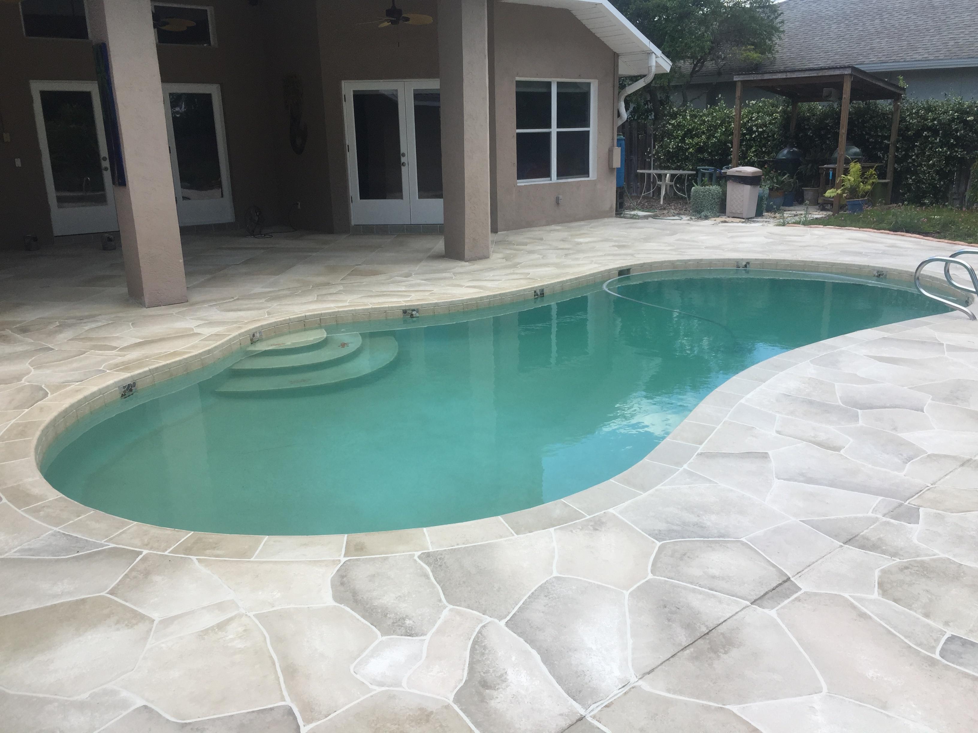 Concrete Designs Florida   decorative pool deck florida on Patio Ideas Around Pool id=36039