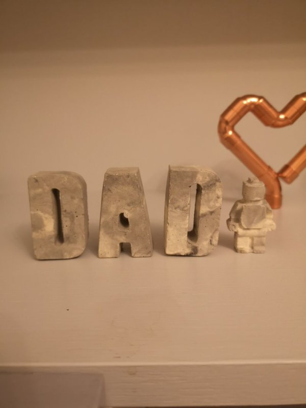 Concrete Dad Letters and Little Man photo 2