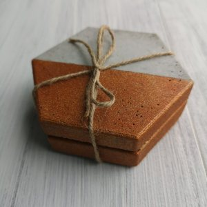 Copper and Grey Coasters main photo