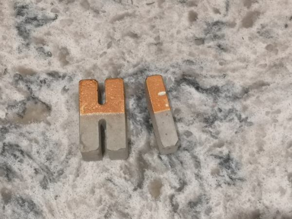 Copper and Grey Rustic Letters photo 1