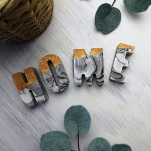 Copper and Marbled Jesmonite Letters main photo home