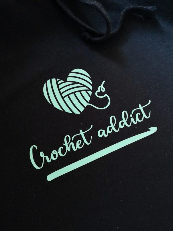 crochet addict longline hoodie photo 3