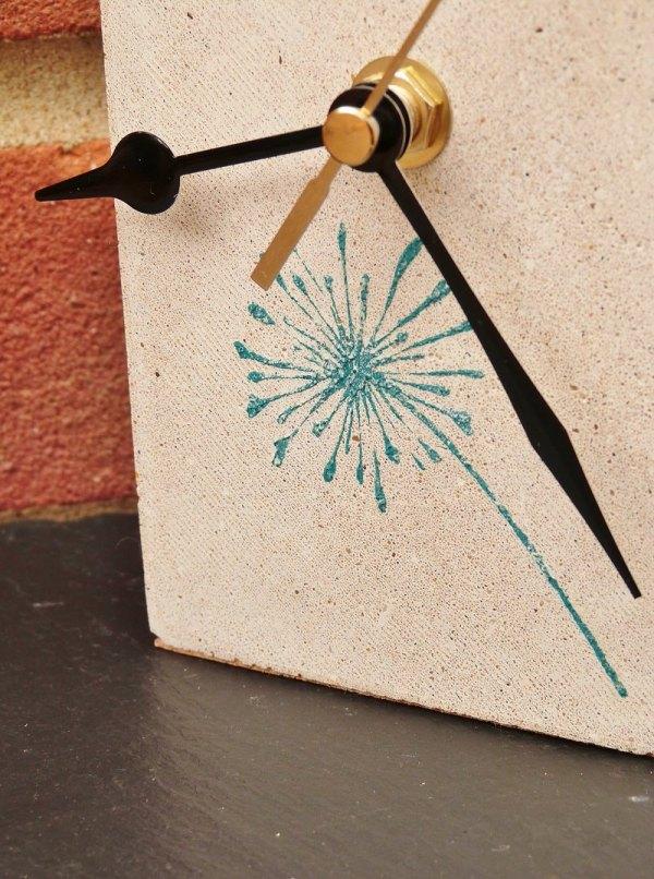 Dandelion Mantelpeice Clock photo 1