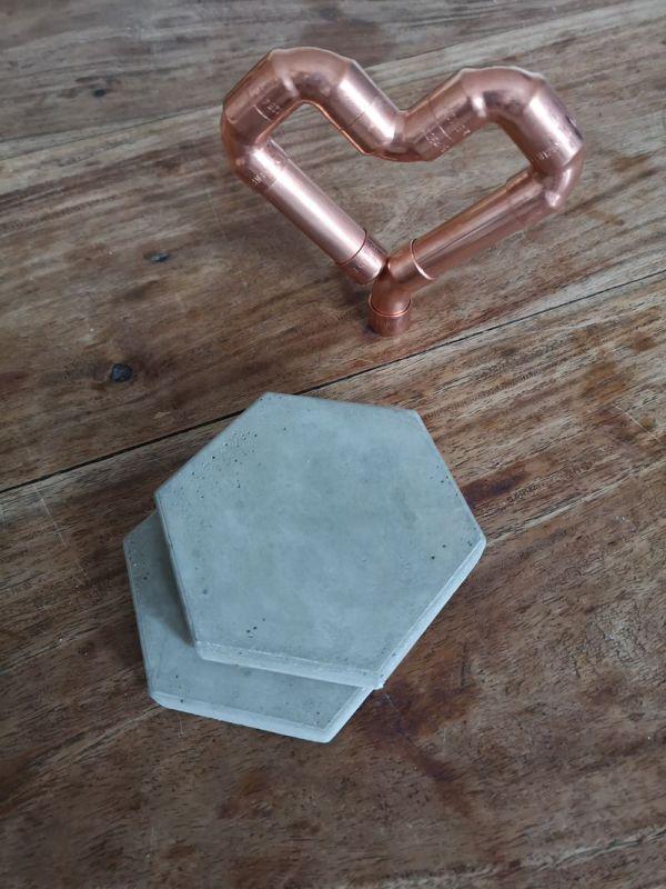 Hexagonal Concrete Coasters main photo