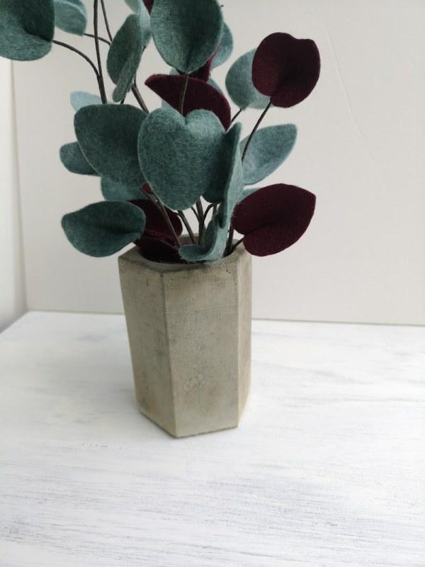 Hexagonal Concrete Vase main photo