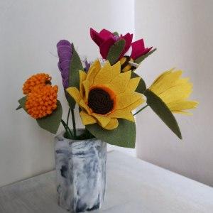 Marbled Hexagonal Vase main photo