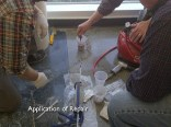 Polished concrete repair with MatchCrete™ Clear.