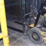 Freezer threshold repair with Roadware 10 Minute Concrete Mender™.