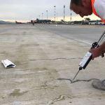 Crack repair at the Milan-Malpensa Airport (MXP)