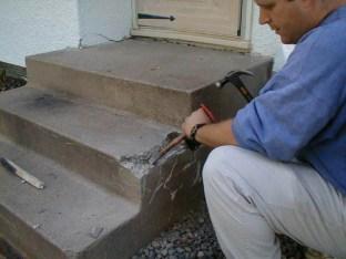 Remove loose concrete.