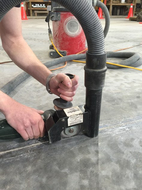 Less grinding and cutting means less dust to mitigate.