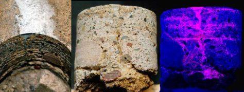 Concrete Mender under UV Light