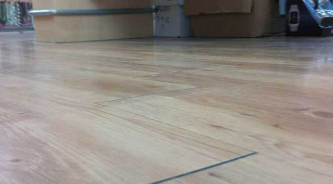 Crack Repair Under VCT or Laminate Flooring