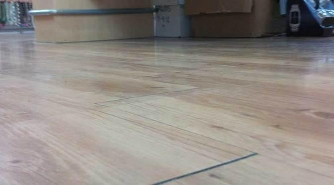 Crack Repair Under VCT or Laminate Flooring