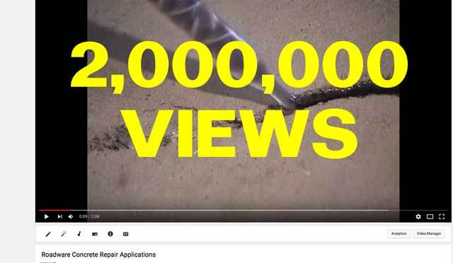 Roadware YouTube Channel Hits 2 Million Views