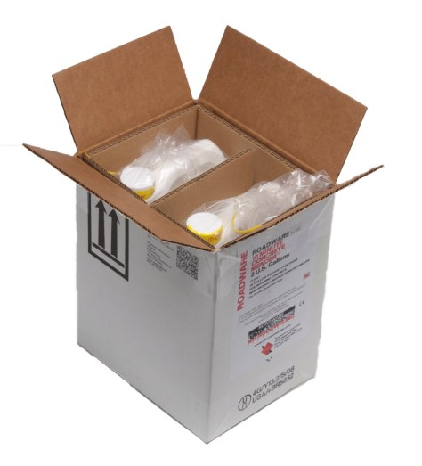 80020 Two-Gallon Kit Roadware 10 Minute Concrete Mender™ in shipping carton.