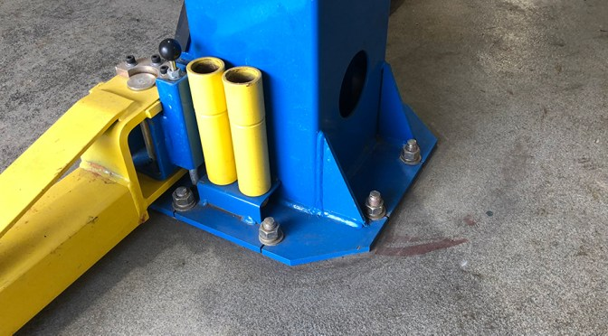 Automotive Lift Anchoring Floor Repair