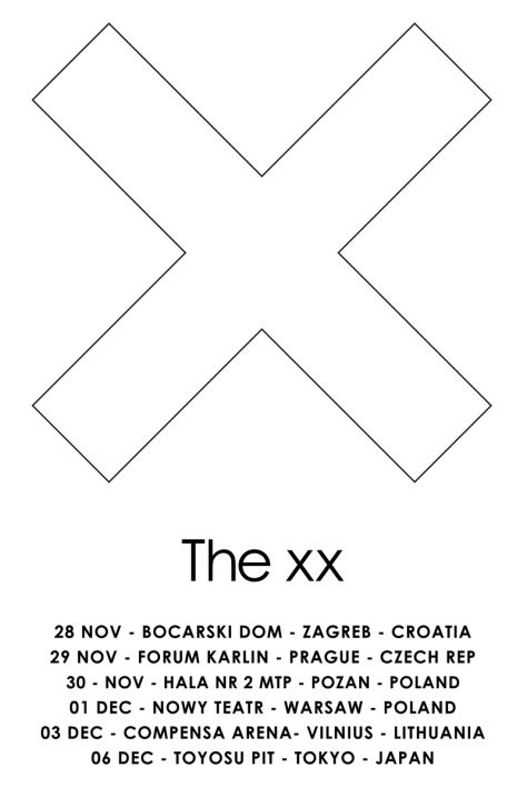 the xx fall 2016 dates