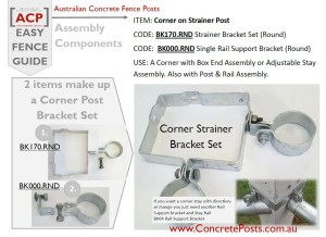 BK170.RND & BK000.RND for a Corner Strainer
