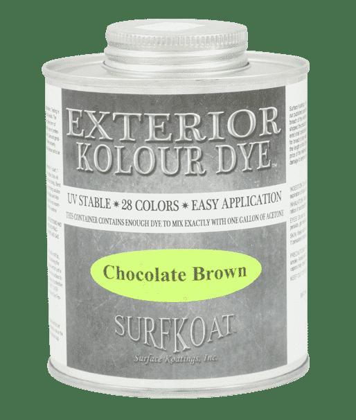 SurfKoat Exterior Kolour Dye Concrete Stain Dye Color Material Acetone. Concrete dye for stained concrete floors. Dyed concrete product for concrete dye projects. Exterior concrete color using acetone dye.