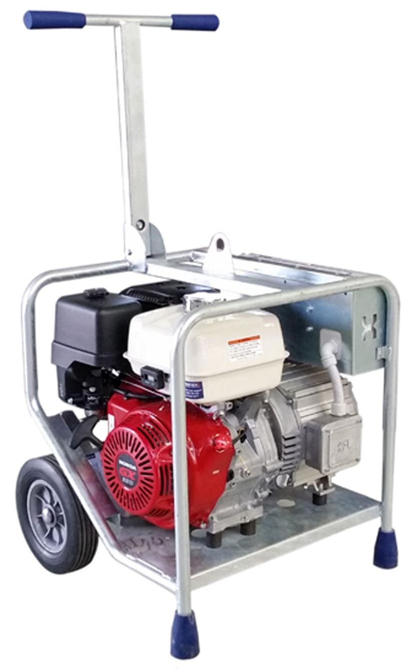 Makinex Industrial Generator 9 KW three phase and single phase portable generator for concrete grinders and portable generator for concrete tools