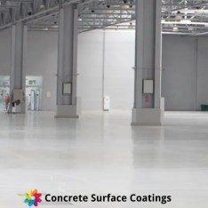 An epoxy floor coating in a high traffic area