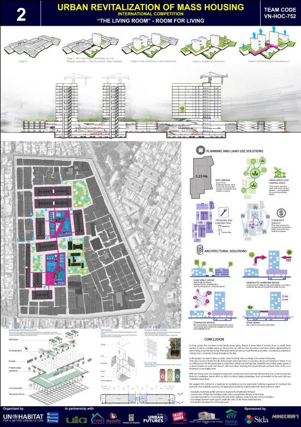 Concurso Mass Housing - Regional - Ásia e Pacífico - Segundo Lugar - Prancha 2