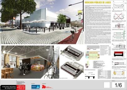 Concurso de Arquitetura - Mercado Público de Lages - 1º Lugar - Prancha 01
