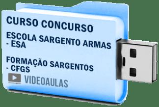 Curso Concurso ESA Escola Formação Sargentos Armas Vídeo Aulas