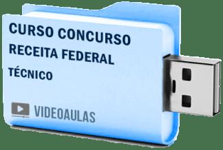 Concurso Receita Federal Técnico Curso Videoaulas Pendrive
