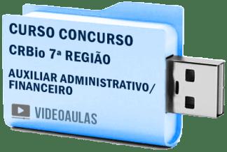 CRBio 7ª Região Auxiliar Administrativo Financeiro Curso Vídeo Aulas Concurso