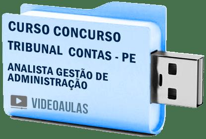 Tribunal Contas TCE PE – Analista Gestão Administração Curso Concurso Vídeo Aulas