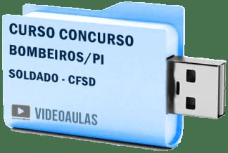 Bombeiros PI Soldados CFSd Curso Vídeo Aulas Concurso