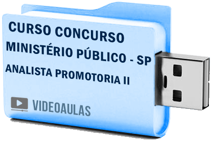 Curso Vídeo Aulas Ministério Público – SP – Analista de Promotoria II Pendrive