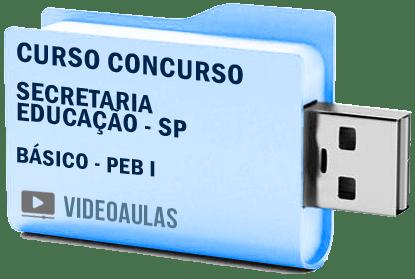 Curso Vídeo Aulas Concurso Secretaria Educação – SP – PEB I – Básico 2018