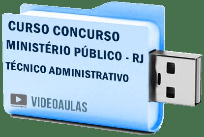 Curso Concurso Vídeo Aulas Ministério Público – RJ – Técnico Administrativo 2018 Pendrive