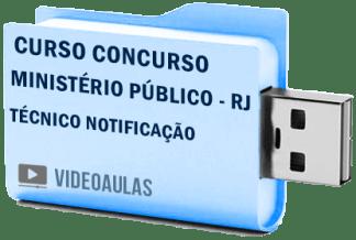 Curso Concurso Vídeo Aulas Ministério Público – RJ – Técnico Notificação 2018 Pendrive
