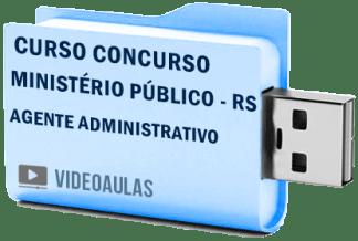 Curso Concurso Vídeo Aulas Ministério Público – RS – Agente Administrativo Pendrive
