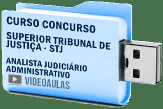 Curso Concurso Vídeo Aulas STJ – Analista Judiciário Administrativo – 2018 Pendrive