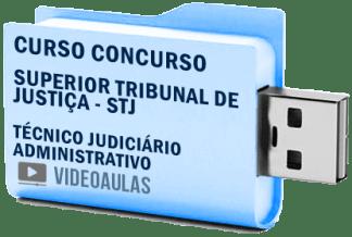Curso Concurso Vídeo Aulas STJ – Técnico Judiciário Administrativo – 2018 Pendrive